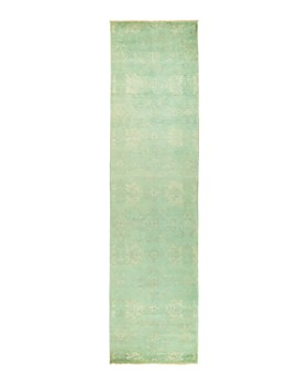 """Solo Rugs - Vibrance 57 Hand-Knotted Runner Rug, 3' 1"""" x 12' 4"""""""