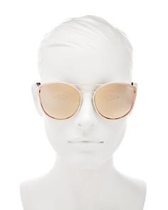 Quay - Women's Cherry Bomb Mirrored Brow Bar Cat Eye Sunglasses, 60mm