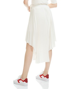 Maje - Jaxy Pleated Asymmetric Midi Skirt