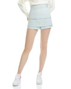 Maje - Isalia Tiered Mini Shorts