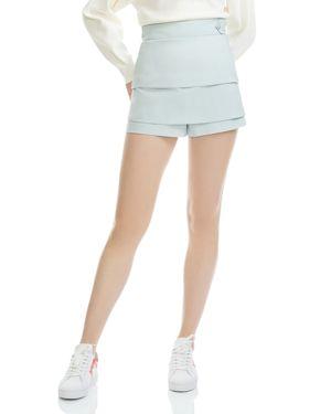 Isalia Tiered Mini Shorts, Blue Sky
