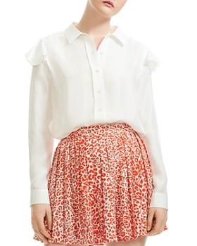e7adda8fc326a Maje - Chella Button-Down Silk Shirt ...