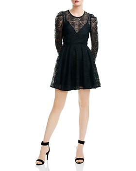 Maje - Rizone Lace Fit-and-Flare Silhouette