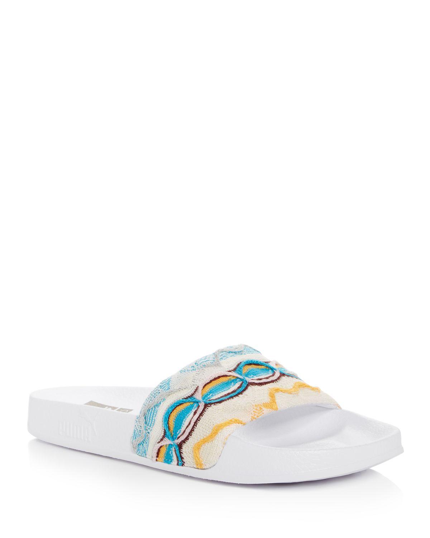 Puma X Coogi Men's Leadcat Embroidered Slide Sandals
