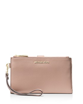 MICHAEL Michael Kors - Double Zip Leather Smartphone Wristlet
