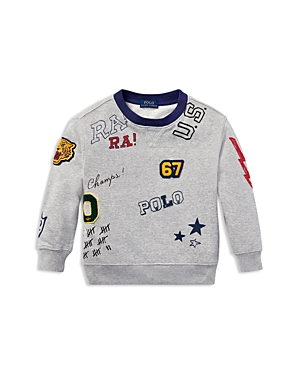 Polo Ralph Lauren Boys' Graphic French Terry Sweatshirt - Little Kid