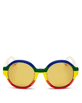85534df22 Gucci Women's Rainbow Round Sunglasses, 51mm | Bloomingdale's