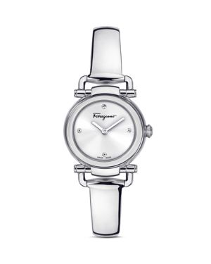 Salvatore Ferragamo Gancino Casual Silver Watch, 26mm