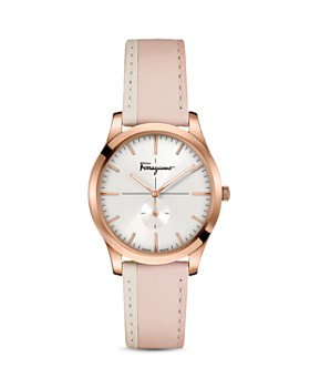 Salvatore Ferragamo - Slim Formal Pink Strap Watch, 35mm