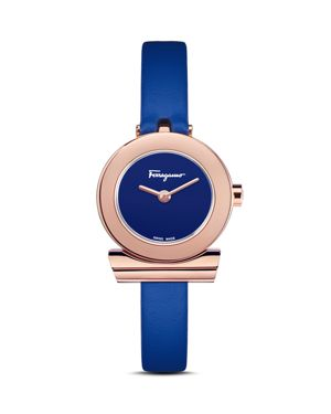 Salvatore Ferragamo Gancino Blue Strap Watch, 22mm