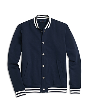 Brooks Brothers Boys Fleece Knit Baseball Jacket  Little Kid Big Kid