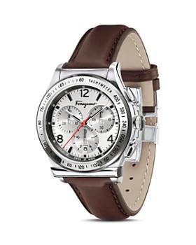 Salvatore Ferragamo - Ferragamo 1898 Brown Leather Watch, 42 mm