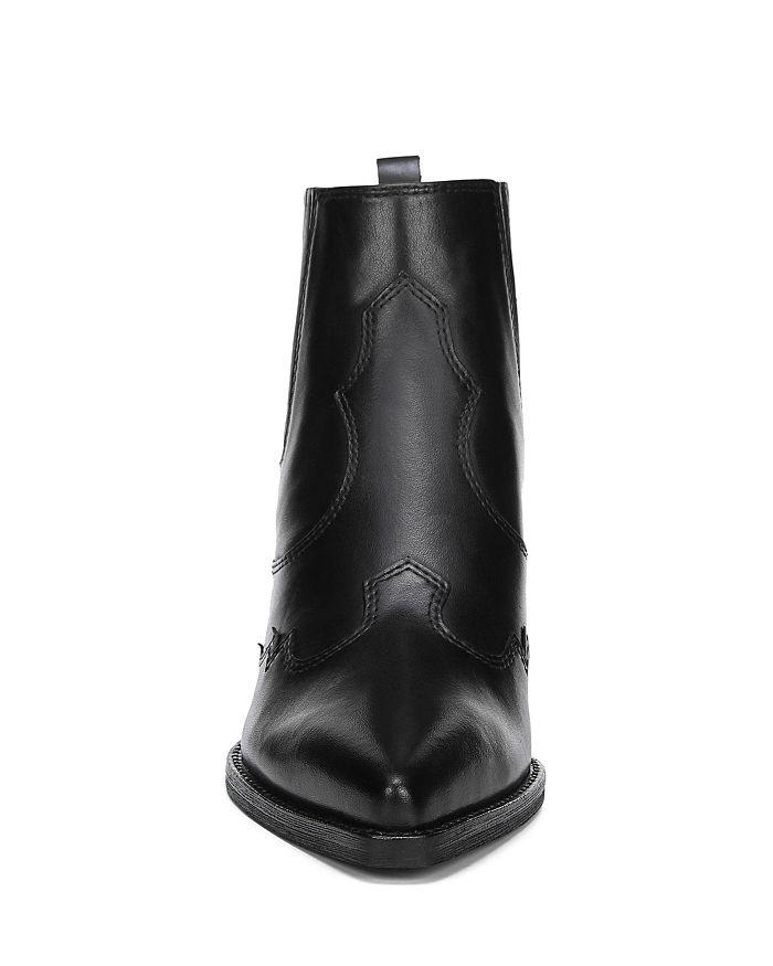 b3a5836cc Sam Edelman Women s Winona Pointed-Toe Mid-Heel Leather Booties ...