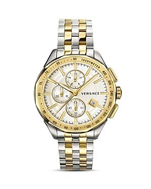 Versace Collection Glaze Two-Tone Bracelet Watch, 44mm