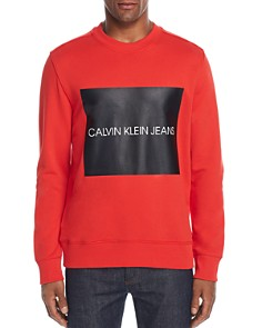 Calvin Klein Jeans Box Logo Graphic Sweatshirt - Bloomingdale's_0
