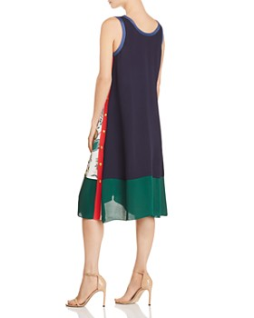 Tory Burch - Rosie Floral-Print Color-Block Dress
