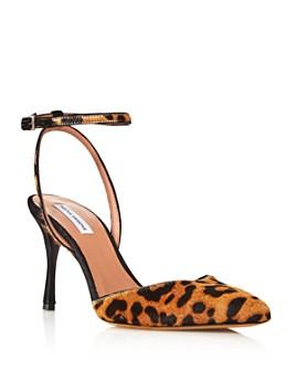 Tabitha Simmons - Women's Sen Pointed Toe Leopard Print Calf Hair Pumps