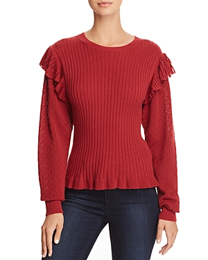 La Vie Rebecca Taylor Mixed-Stitch Sweater