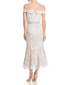Jarlo - Off-the-Shoulder Lace Midi Dress