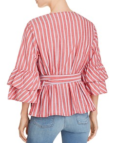 BeachLunchLounge - Bell Sleeve Wrap Top