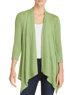 STATUS BY CHENAULT Status By Chenault Waterfall Open-Front Cardigan in Light Olive
