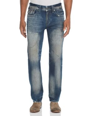 TRUE RELIGION GENO STRAIGHT SLIM JEANS IN COMBAT BLUE