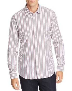 BOSS REGGIE STRIPED FLANNEL REGULAR FIT SHIRT