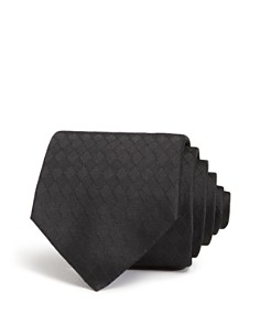 Emporio Armani Textured Diamond-Weave Classic Silk Tie - Bloomingdale's_0