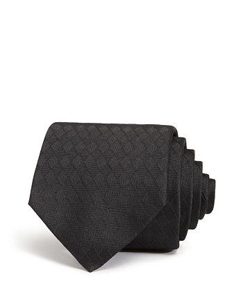 Armani - Textured Diamond-Weave Classic Silk Tie