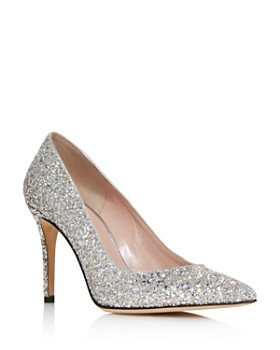 kate spade new york - Women's Vivian Pointed Toe Glitter Leather High-Heel Pumps
