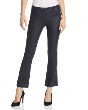 Lara Mid-Rise Instasculpt Coated Boot-Cut Jeans in Marin