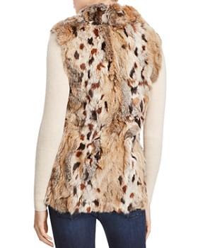 Adrienne Landau - Leopard Print Rabbit-Fur Vest - 100% Exclusive