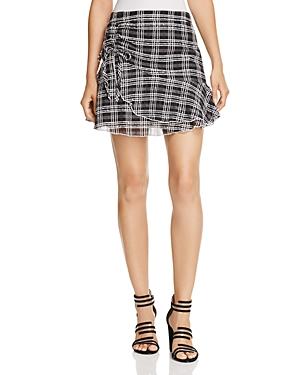Parker Chris Plaid Mini Skirt