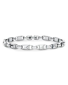 Michael Kors - Mercer Link Sterling Silver and Pavé Bracelet in 14K Gold-Plated Sterling Silver, 14K Rose Gold-Plated Sterling Silver or Solid Sterling Silver