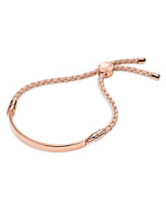 Michael Kors - Custom Kors Sterling Silver Cord Bracelet in 14K Gold-Plated Sterling Silver, 14K Rose Gold-Plated Sterling Silver or Solid Sterling Silver