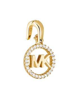 Michael Kors - Custom Kors Sterling Silver Logo Charm in 14K Gold-Plated Sterling Silver, 14K Rose Gold-Plated Sterling Silver or Solid Sterling Silver