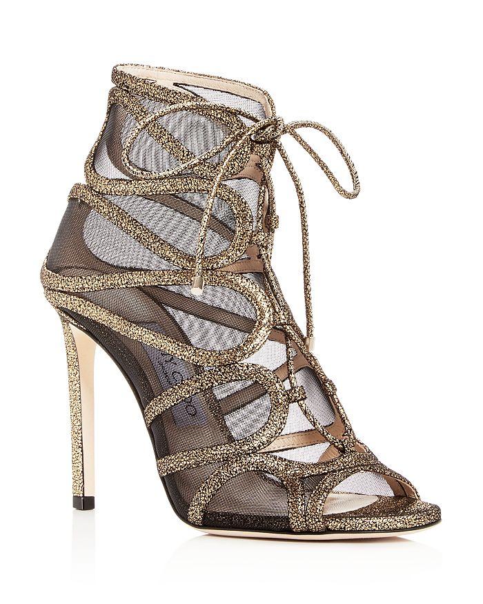 Jimmy Choo - Women's Malena 100 Crackled Leather High-Heel Sandals
