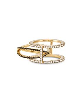 Michael Kors - Custom Kors 14K Gold-Plated Sterling Silver Pavé Nesting Ring Insert