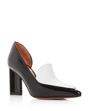 ROBERT CLERGERIE WOMEN'S KALLISTE TWO-TONE LEATHER POINTED TOE PUMPS