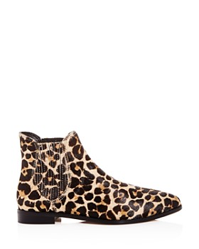 Rebecca Minkoff - Women's Madysin Too Leopard Print Calf Hair Pointed Toe Booties