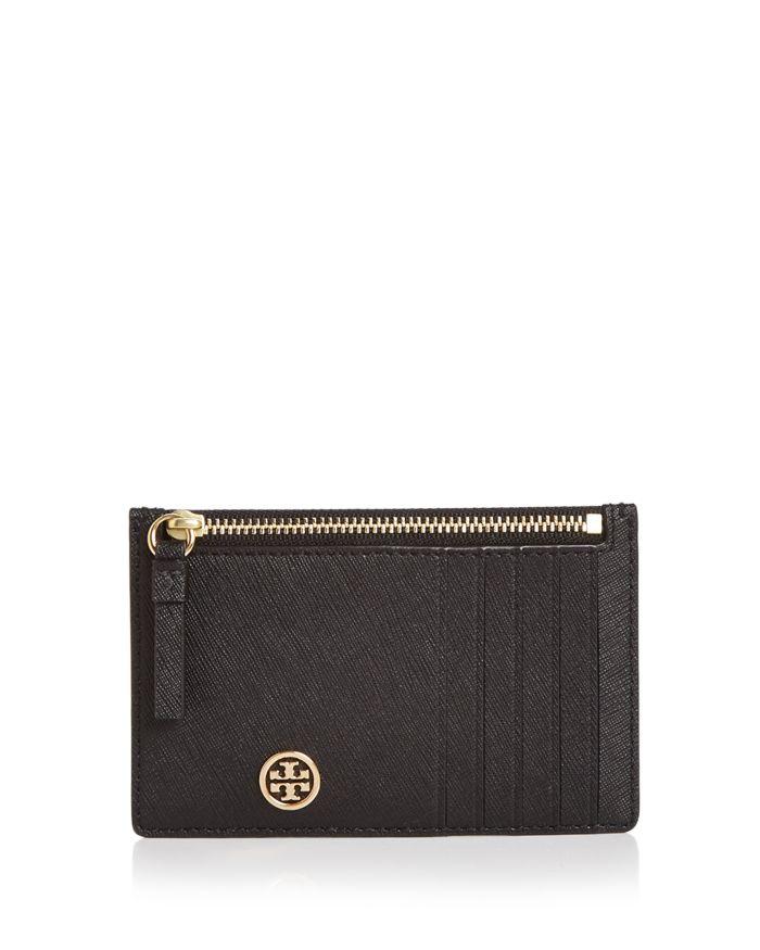 Tory Burch Robinson Zip Leather Slim Card Case    Bloomingdale's