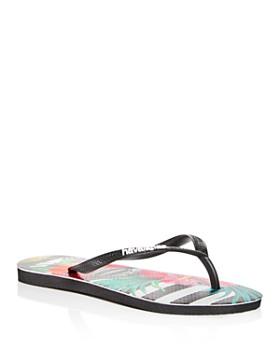 98957f09e havaianas - Women s Tropical Floral Slim Flip-Flops ...