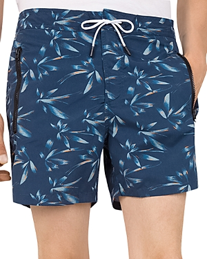 The Kooples Tropical Floral Long Swim Shorts