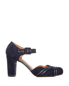 Chie Mihara - Women's Kilo Suede Block-Heel Pumps