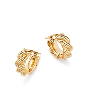 Bloomingdale's Knotted Small Hoop Earrings in 14K Yellow Gold - 100% Exclusive