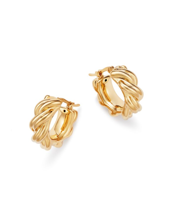Bloomingdale's Knotted Small Hoop Earrings in 14K Yellow Gold - 100% Exclusive  | Bloomingdale's