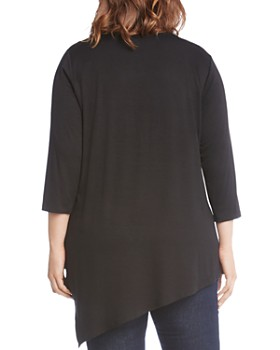 Karen Kane Plus - Embellished Asymmetric Top