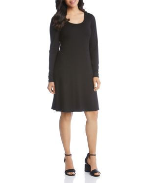 Erin A-Line Dress, Black