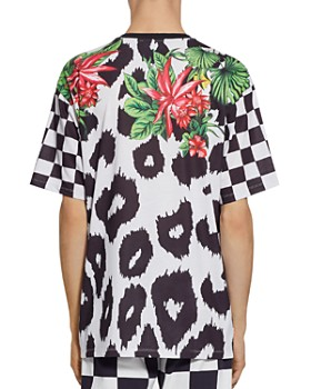 Versus Versace - Mixed-Print Logo Graphic Tee