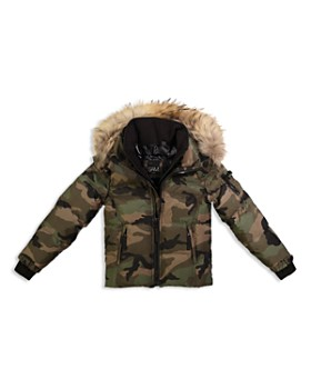 bc6ce0805 Boys' Camo Mountain Fur-Trimmed Down Jacket - Big Kid ...